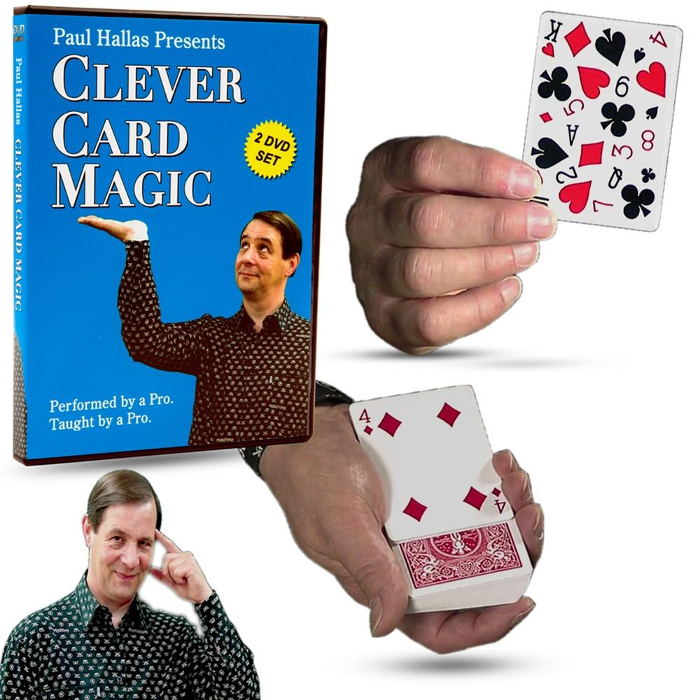 FREE with $200 Order Clever Card Magic (2 DVD Set) by Paul Hallas