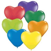 Heart Balloons Carnival Colors