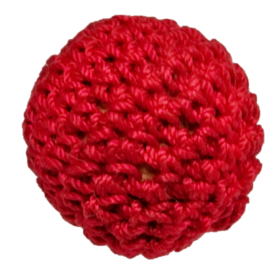 1 inch Crochet Ball Non Magnetic (Red) by Ick