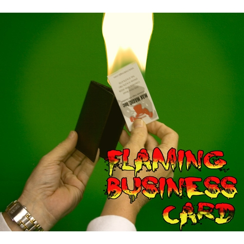 Flaming business card from wallet leathercraft usa magic tricks flaming business card from wallet leathercraft colourmoves
