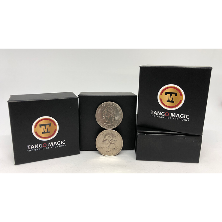 Balancing Coin (Quarter Dollar)(D0066) by Tango Magic Trick