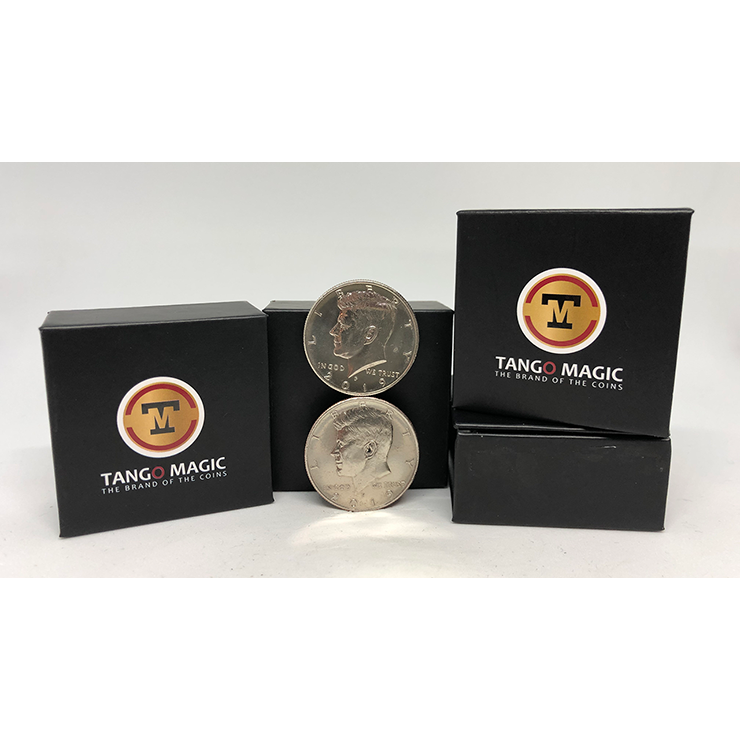 Balancing Coin (Half Dollar) by Tango Magic Trick (D0067)
