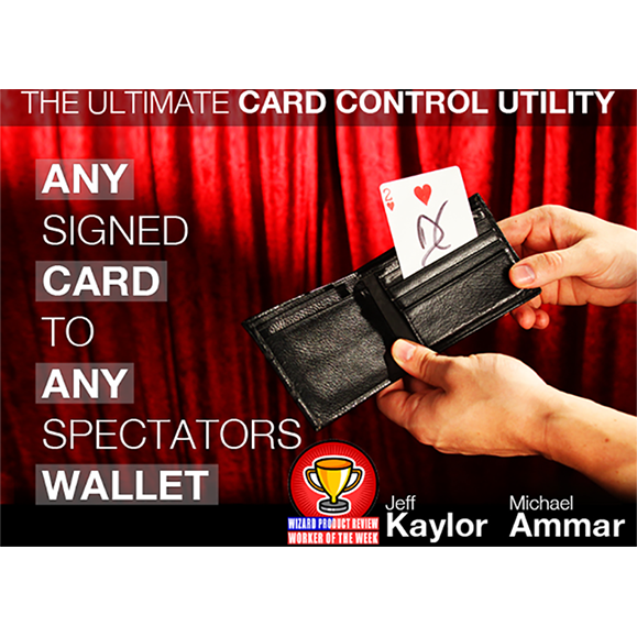 Any Card to Any Spectators Wallet BLACK (DVD and Gimmick) By Jeff Kaylor and Michael Ammar DVD