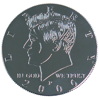 Kennedy Palming Coin (Half Dollar Sized) by You Want It We Got It Trick
