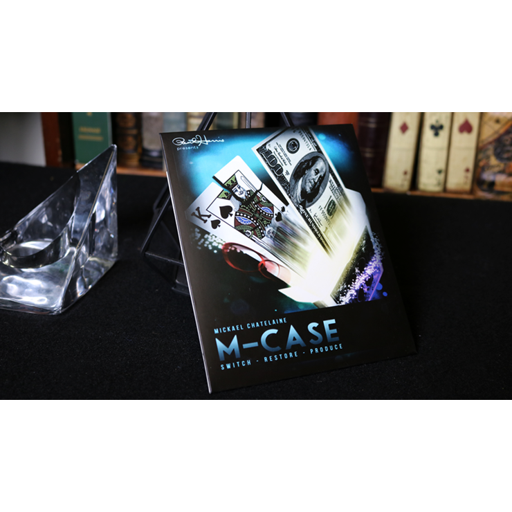 M Case Blue (Gimmick and Online Instructions) by Mickael Chatelain Trick