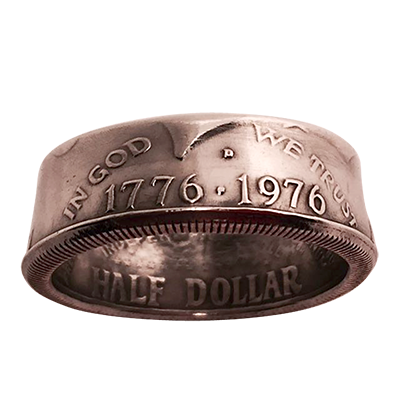 Genuine Half Dollar Ring (12/21.49 mm)By