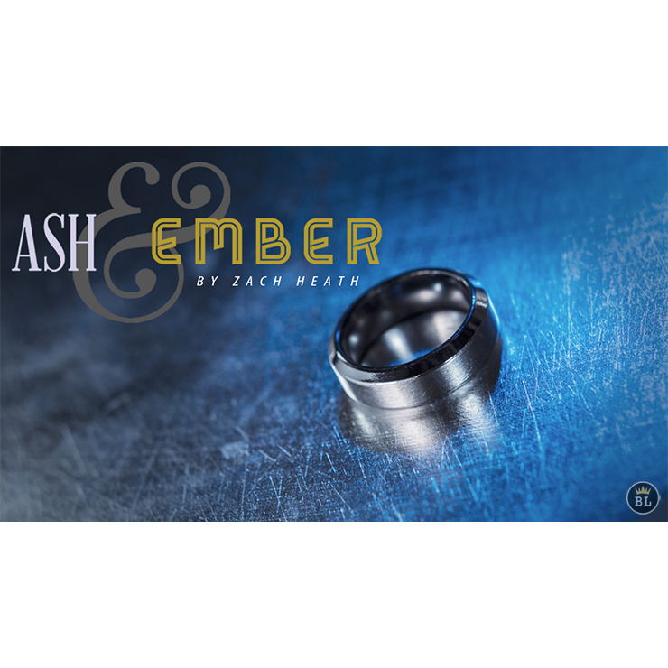 Ash and Ember Silver Beveled Size 11 (2 Rings) by Zach Heath Trick