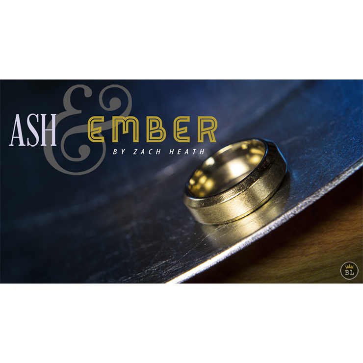Ash and Ember Gold Beveled Size 13 (2 Rings) by Zach Heath Trick