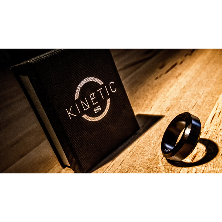 Kinetic PK Ring (Black) Beveled size 9 by Jim Trainer Trick