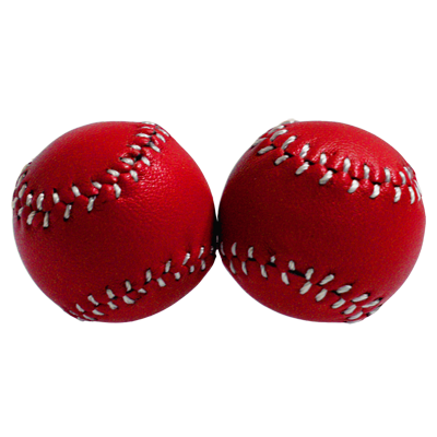 Chop Cup Balls Red Leather (Set of 2) by Leo Smetsers Trick