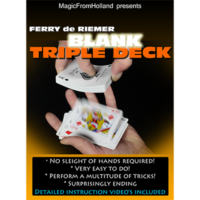 Triple Deck (Red / Blank) by Ferry De Riemer Trick