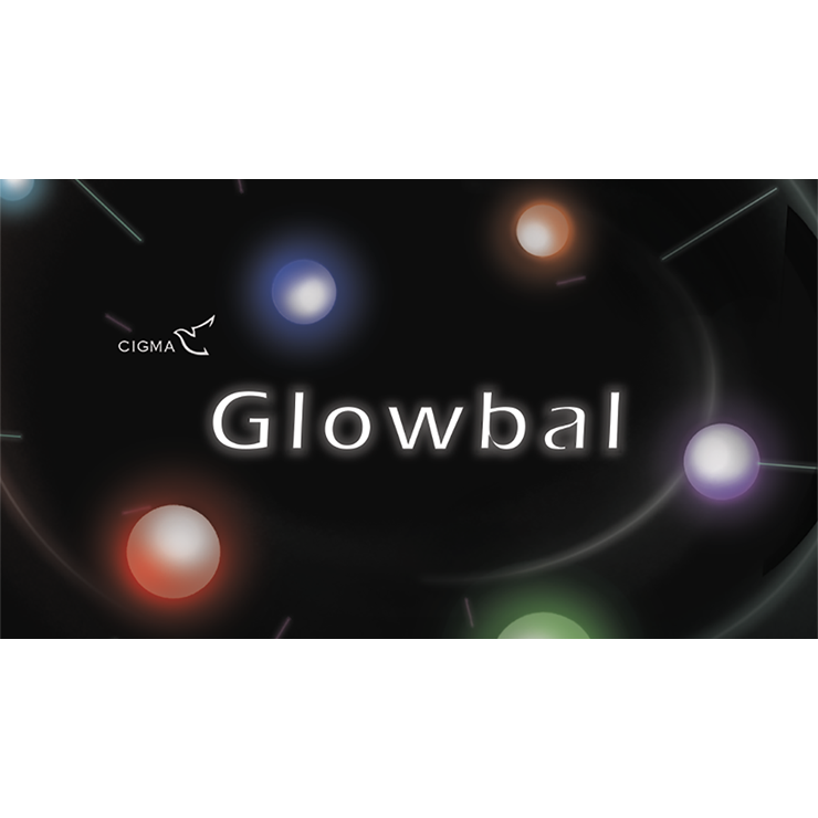 Glowbal 1.75 inch (color changing) single ball by Cigma Magic Trick