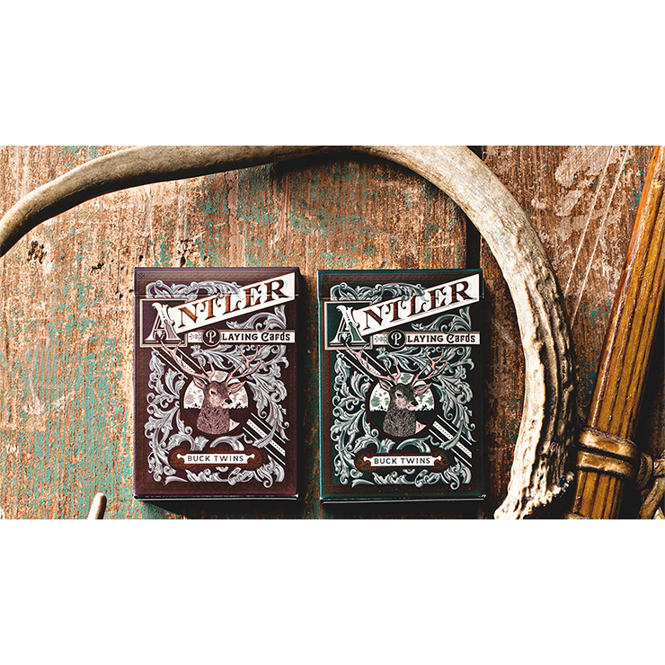 Antler Playing Cards (Maroon) by Dan and