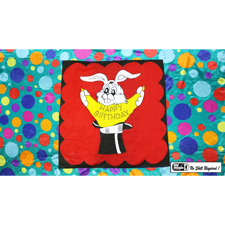 Bag to Happy Birthday Silk (36 inch x 36 inch) by Mr. Magic Trick