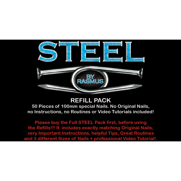 Steel Refill Nails 50 Ct 100mm By Rasmus Trick Usa Magic Tricks