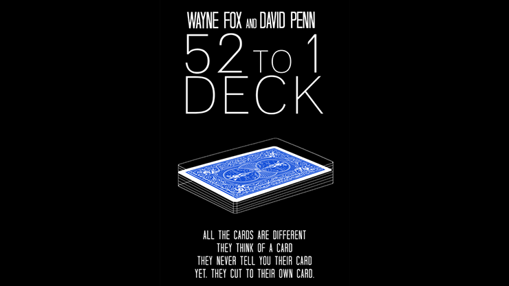 The 52 to 1 Deck Blue (Gimmicks and Online Instructions) by Wayne Fox and David Penn Trick