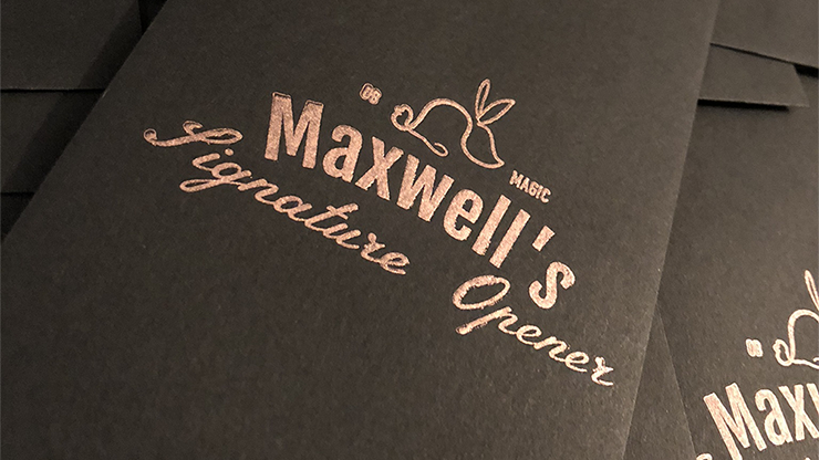 Maxwells Signature Opener (Gimmicks and Online Instructions) by The Other Brothers Trick