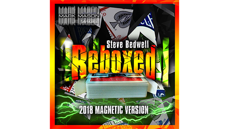Reboxed 2018 Magnetic Version Red (Gimmicks and Online Instructions) by Steve Bedwell and Mark Mason Trick