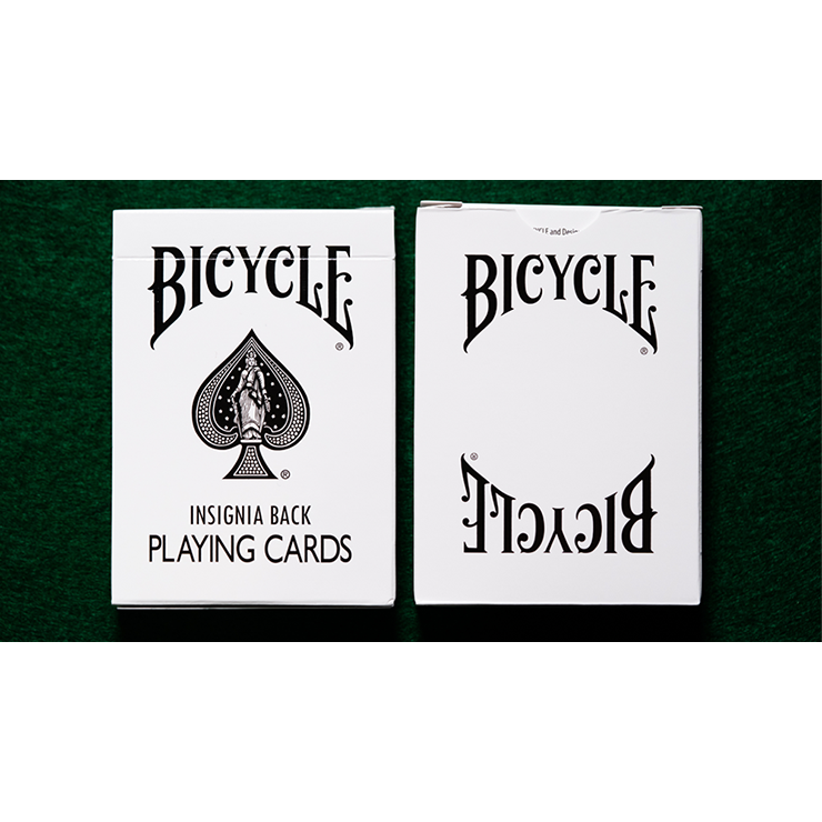 Bicycle Insignia Back (White) Playing Ca