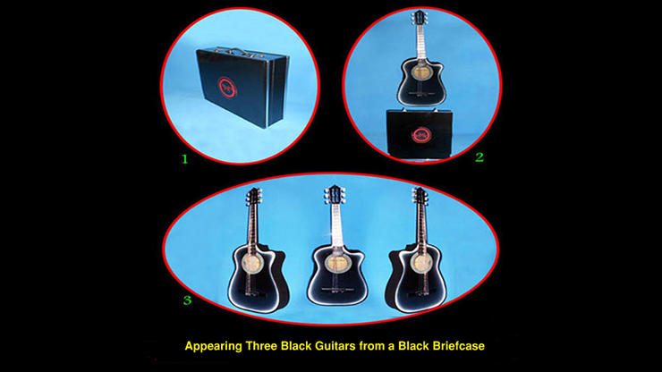 Appearing Guitars from Briefcase (3/Blac