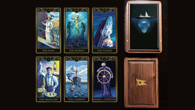 Deluxe Titanic Tarot Cards (Wood Box and