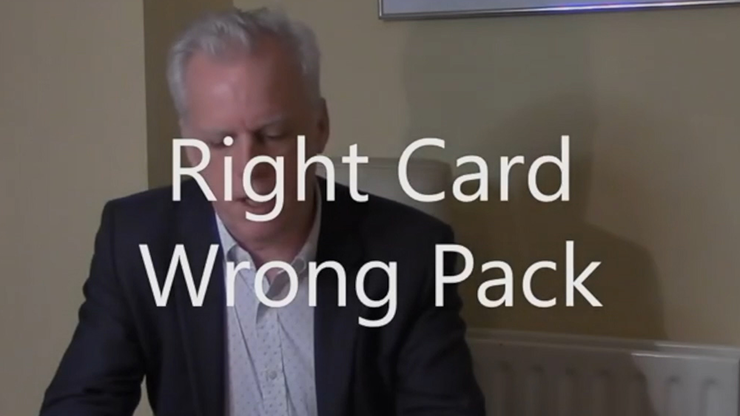 Right Card Wrong Pack by Brian Lewis vid