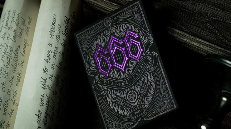 666 Purple Playing Cards by Riffle Shuffle