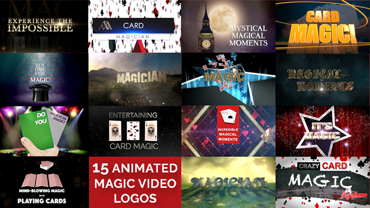 15 Magic Video Logos for Magicians by Wo