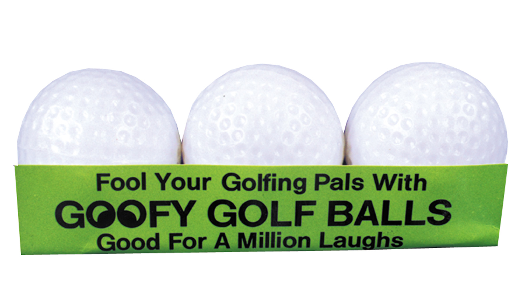Joke Golf Balls Will Not Go Straight (Pack of 3)