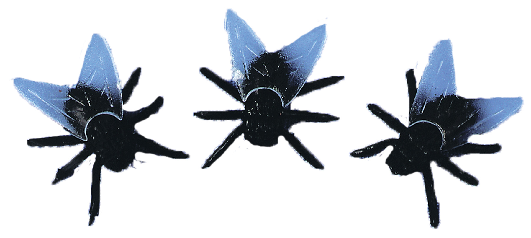 Plastic Flies Pack of 6