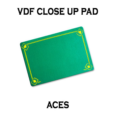 VDF Close Up Pad with Printed Aces (Green) by Di Fatta Magic Trick