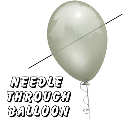 Needle Thru Balloon Professional (with 10 clear balloons) by Bazar de Magia Trick