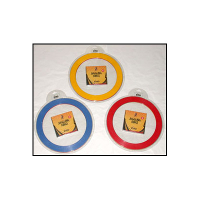 Juggling Rings Set (3 Rings and DVD) Assorted Colors by Zyko Trick