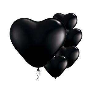 Black Heart Balloons 6 inch