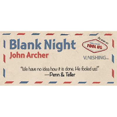 Blank Night (Blue) by John Archer - Tric