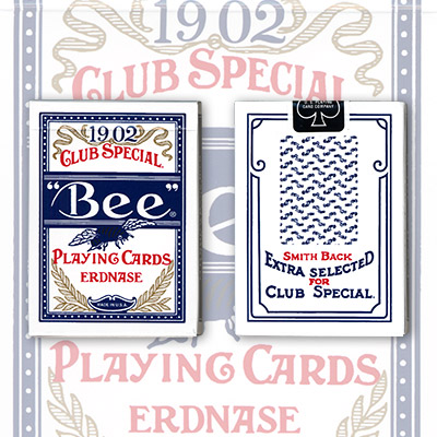 Erdnase 1902 Bee Playing Cards Blue Smith No. 2 Back (Cambric Finish) Limited Edition by Conjuring Arts