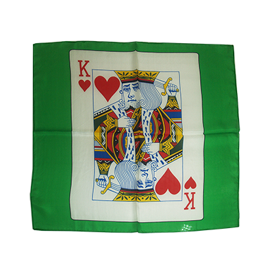 Card Silk 24 inch (King of Hearts) by Stolina Magic Trick