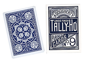 Cards Tally Ho Fan Back Poker size (Blue