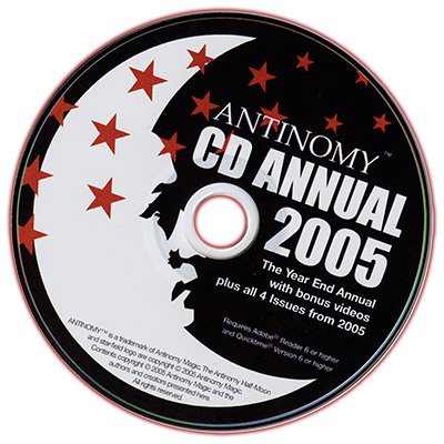 CD Antinomy Annual Year 1 (2005) DVD