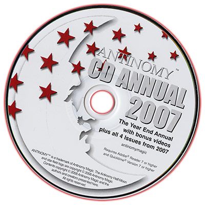 CD Antinomy Annual Year 3 (2007) DVD