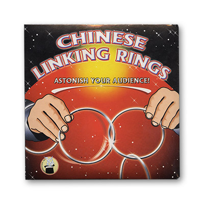 Chinese Linking Rings (5 inch) by Vincenzo Di Fatta Tricks