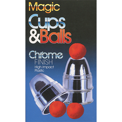 Chrome Cups & Balls (plastic) by Loftus