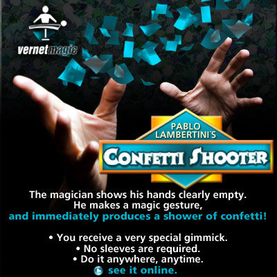 Confetti Shooter by Vernet Magic Trick