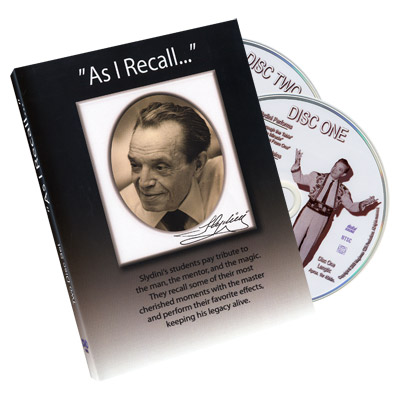 As I Recall (2 DVD Set) Tony Slydini