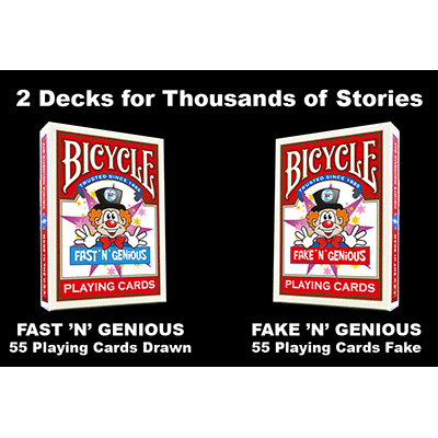 "Fast ""N"" Genious / Fake ""N"" Genious Deck Combo Set by So Magic Trick"