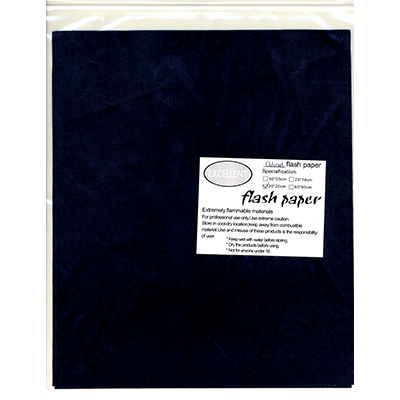 Flash Paper five pack(25x20cm) Black Trick