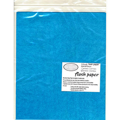 Flash Paper five pack(25x20cm) Blue Trick