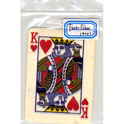 Flash Poker Card King of Hearts (Ten Pack) Trick