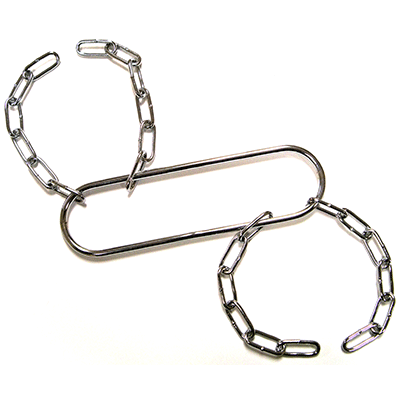 Houdini Handcuffs (Chrome) by Vincenzo D
