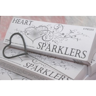 Heart Shaped Sparklers Box of 6